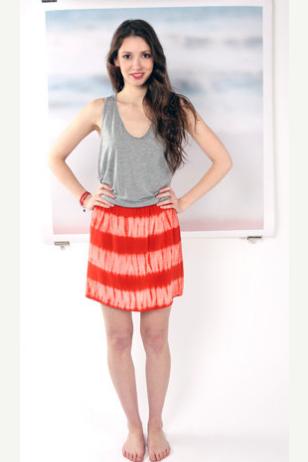 Shibori Dyed Surf Skirt  by katrin reifeiss