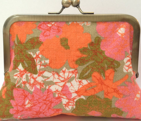 melon and peach sherbet colored  vintage purse from John Met Betty