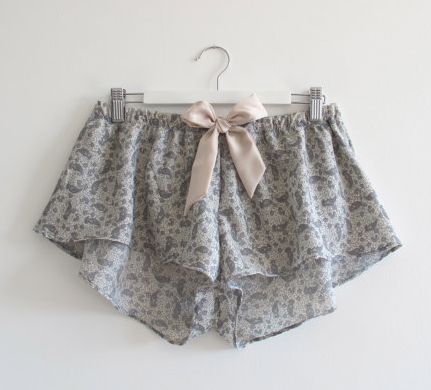 Aurora Lingerie Shorts from on Etsy