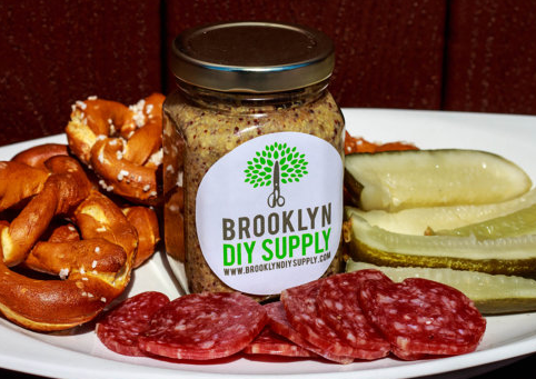 mustard kits, diy pickles,  and cocktail bitter kits can be found at  Brooklyn DIY