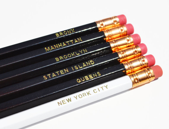 NYC Pencils from  Amber Lee Isabella Home