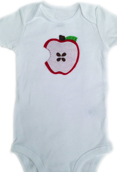 Apple onesie from the African Llama