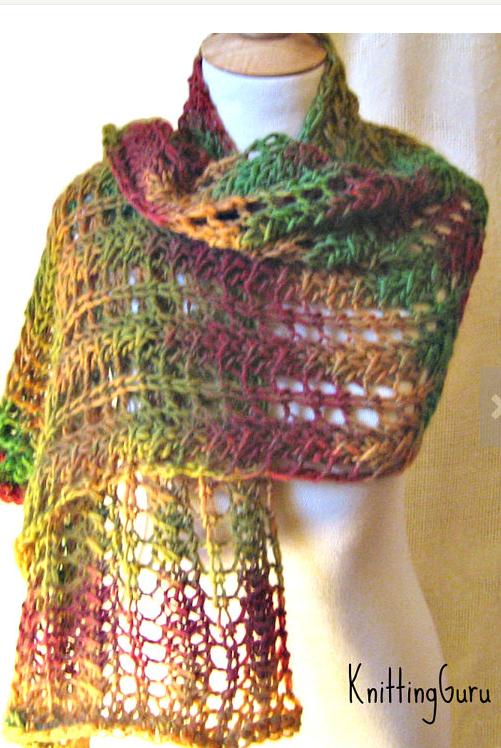 The Vermont Shawl by Knitting Guru