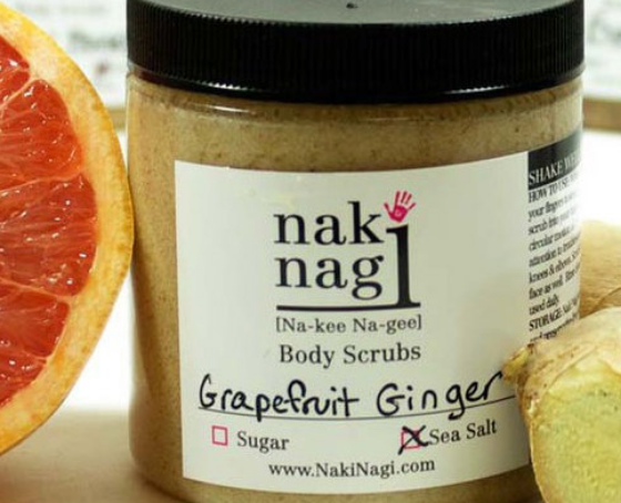 Naki Nagi Grapefruit Ginger Body Scrub