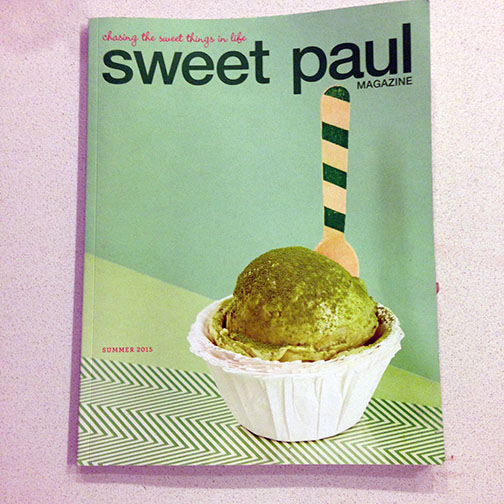 My current favorite mag, Sweet Paul Magazine.  Good ideas, good recipes and good photos.