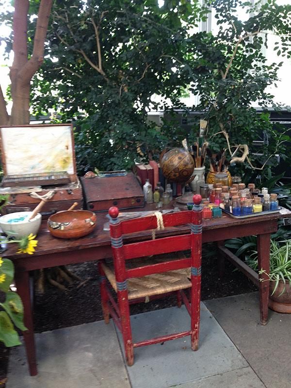 frida kahlo nybg work table