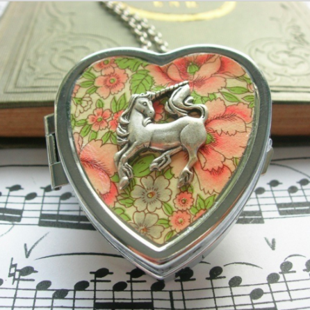 Unicorn Music Box Locket by   Clockworkfantastica |   My Secret Music Box