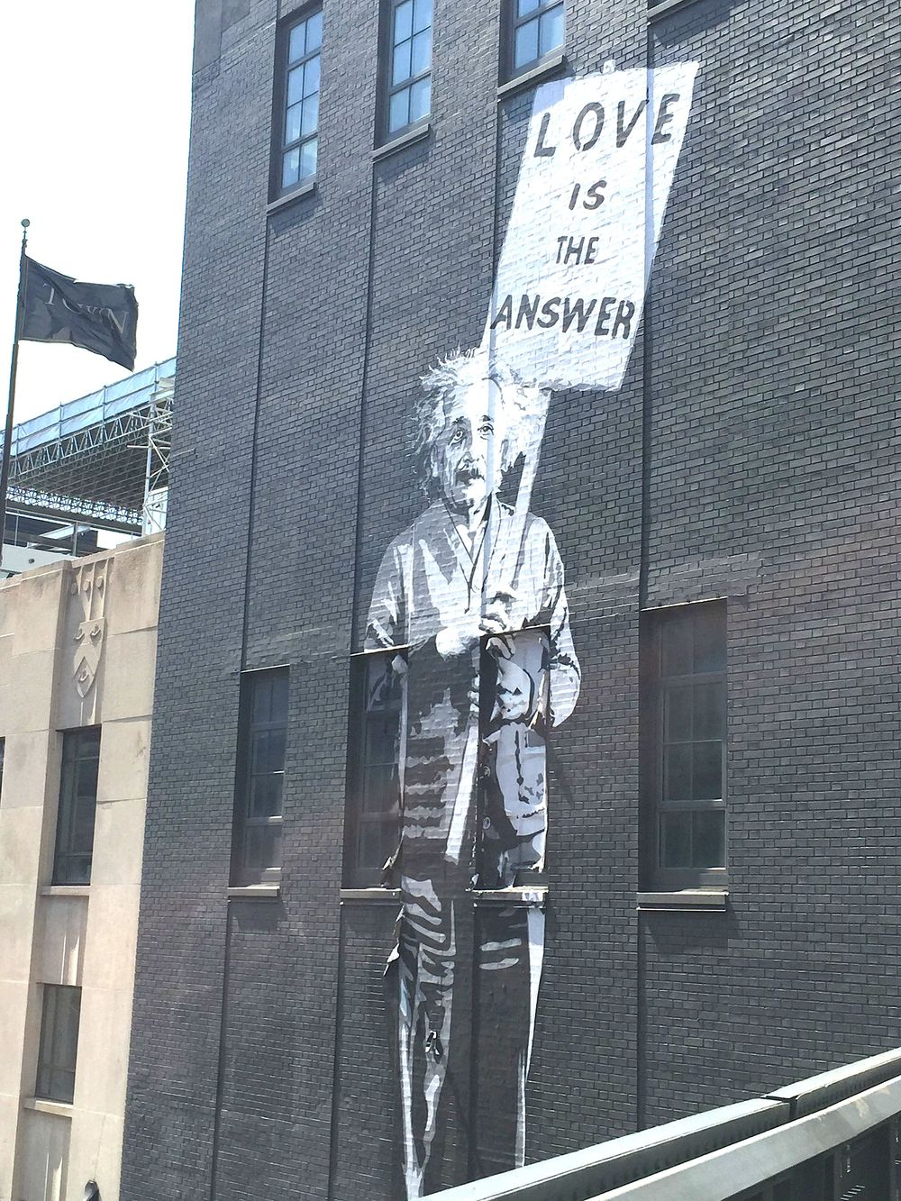 """Einstein: Love is the Answer"", by Mr. Brainwash. 450 West 14th Street, NYC"
