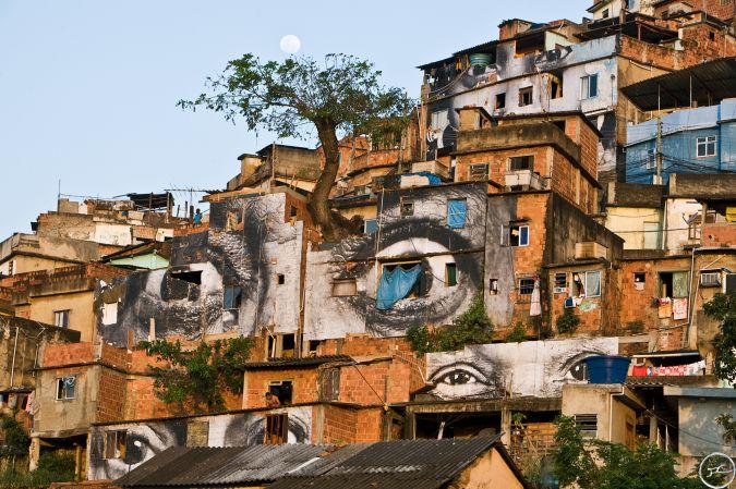 """""""Women Are Heroes"""", Rio de Janeiro, Brazil, by  JR"""