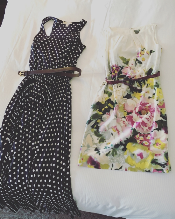 Dresses for the wedding festivities.
