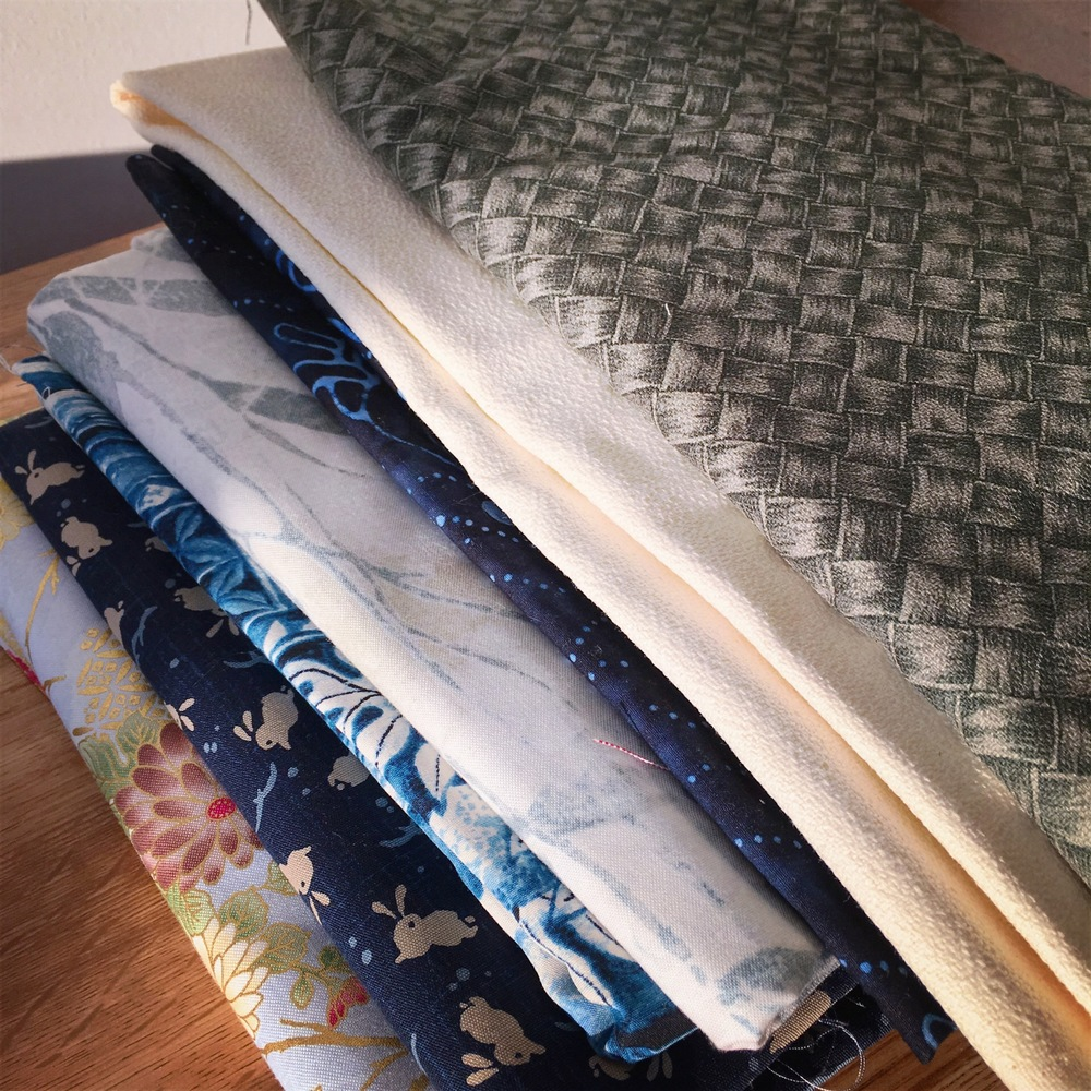 My Hawaii trip fabric stash.