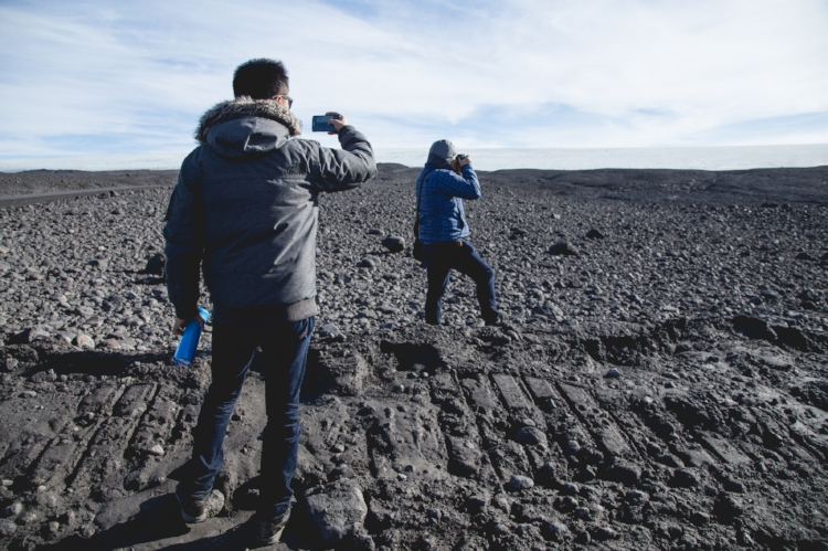 alien landscapes -- gouged earth, courtesy of Langjökull's passing