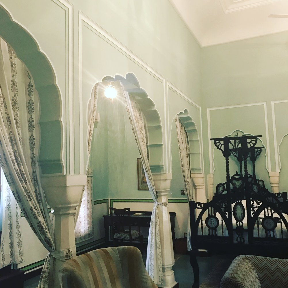 My room at the old Colonial palace was so lovely, and filled with historic details.  It was also the color of my room at home, so felt a little familiar!