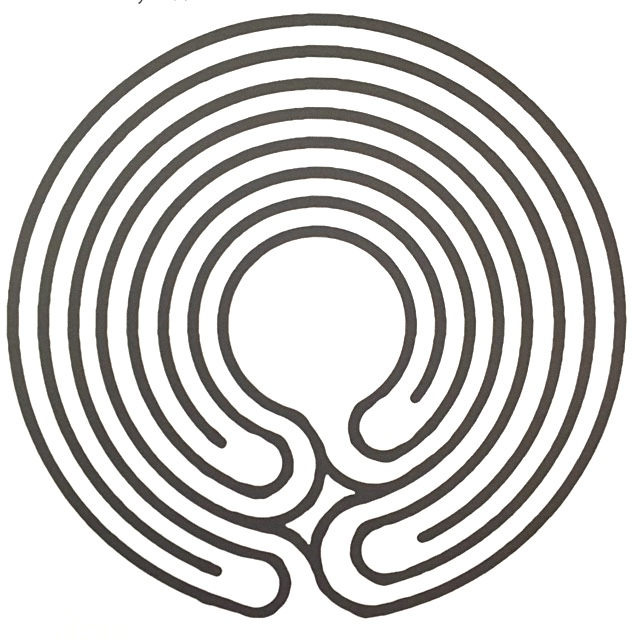 """Be Present"" Labyrinth : Take a ""walk"" around this labyrinth with your finger to stimulate productivity."