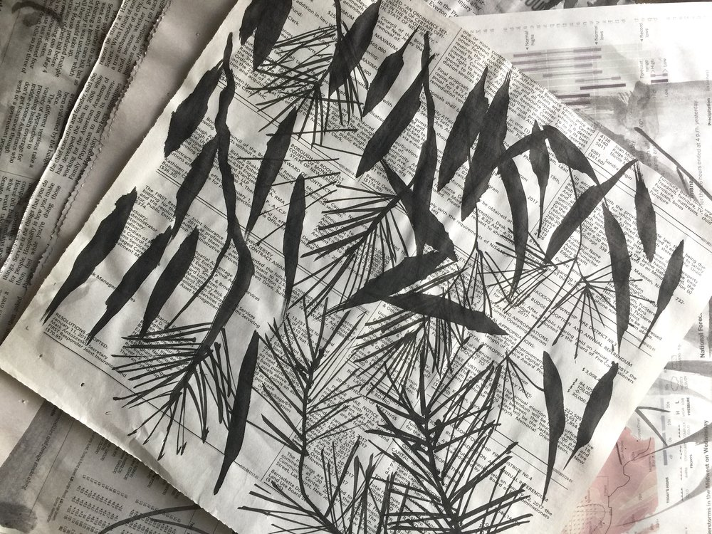 practice on newspaper before using expensive rice paper