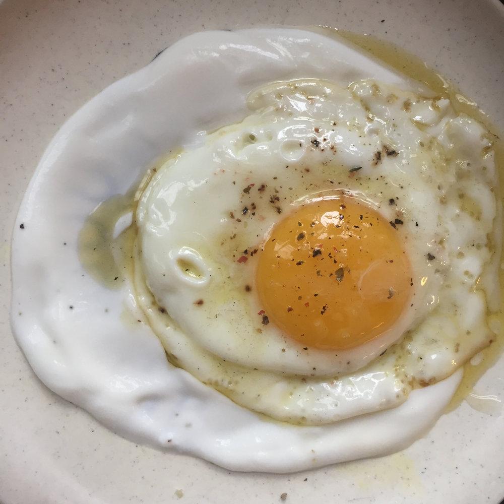 Make toast to sop up the yolk..yummmmm! (if you like runny eggs)