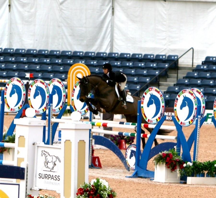 Lauren Myers jumping