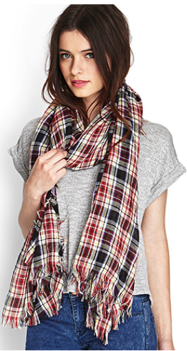 Plaid scarf available at Forever 21