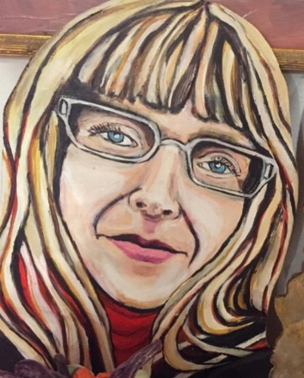 A portrait of Lily Hotchkiss, by Connie Jones Ostrowski.
