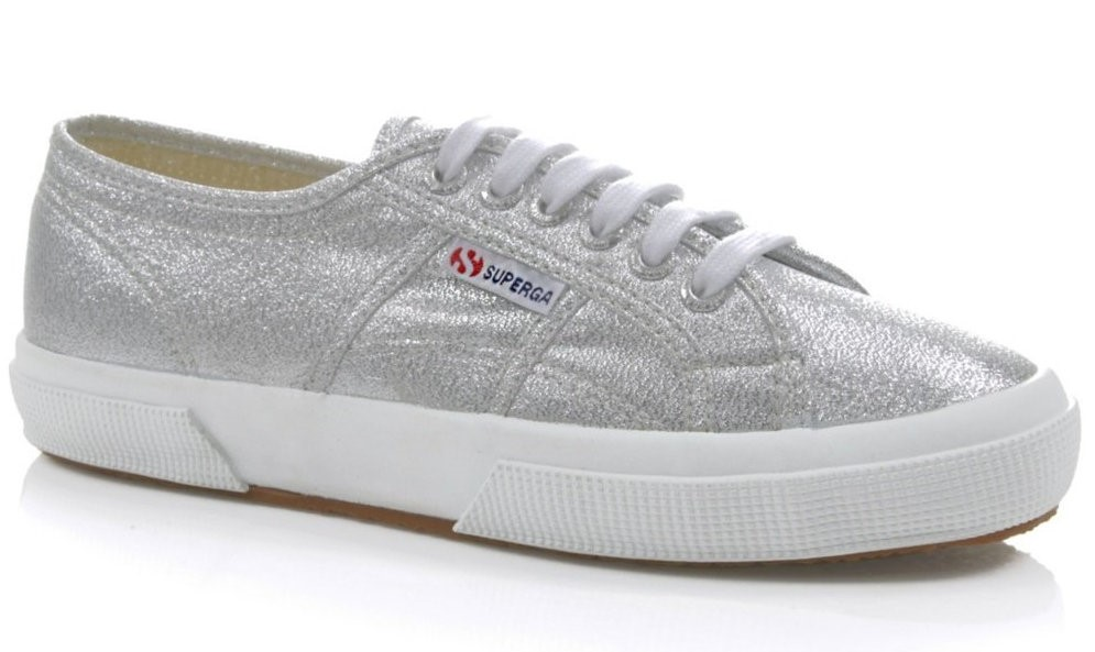 Fran's everyday sneakers: Supergas in Silver (now available in high top online!)
