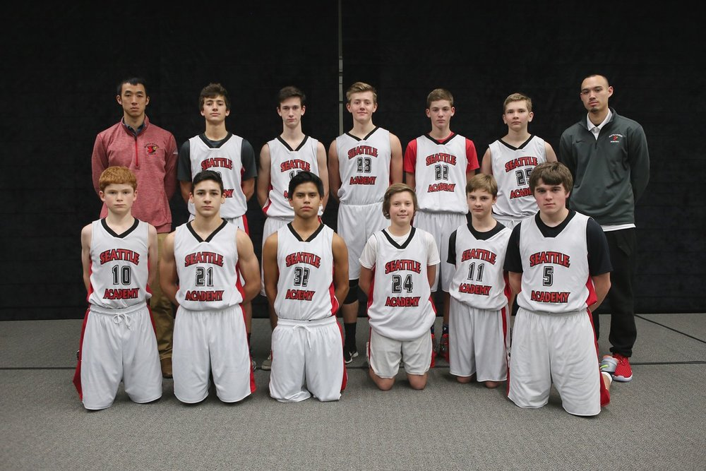 Brendan Beyl with the 2015-2016 boys' JV-C team.
