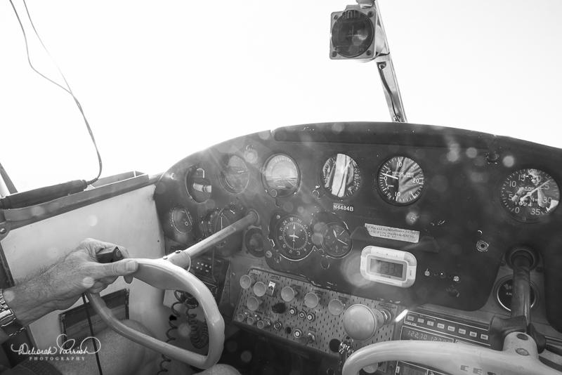 Inside the cockpit...