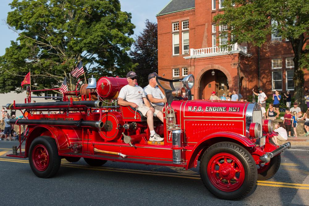 Vintage fire trucks.