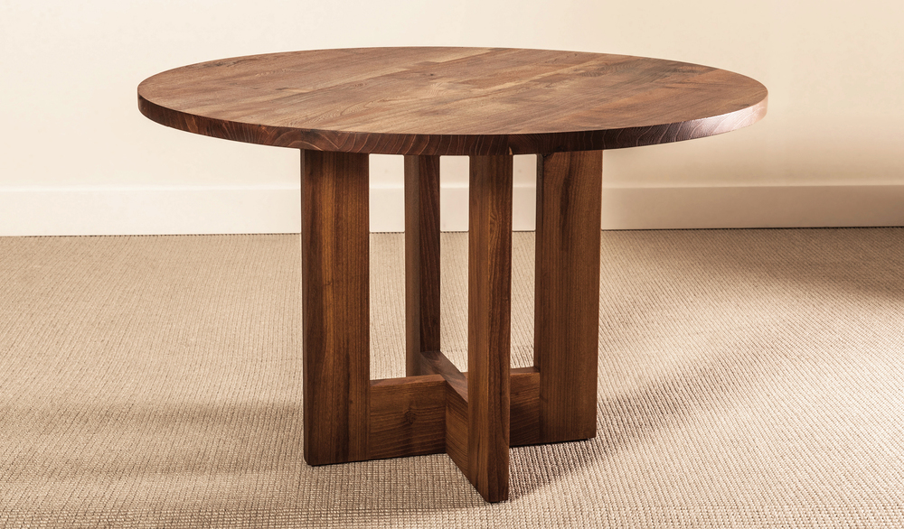 BLANCHARD DINING TABLE - BLACK LOCUST