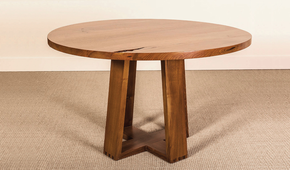 CARVER DINING TABLE - BLACK LOCUST