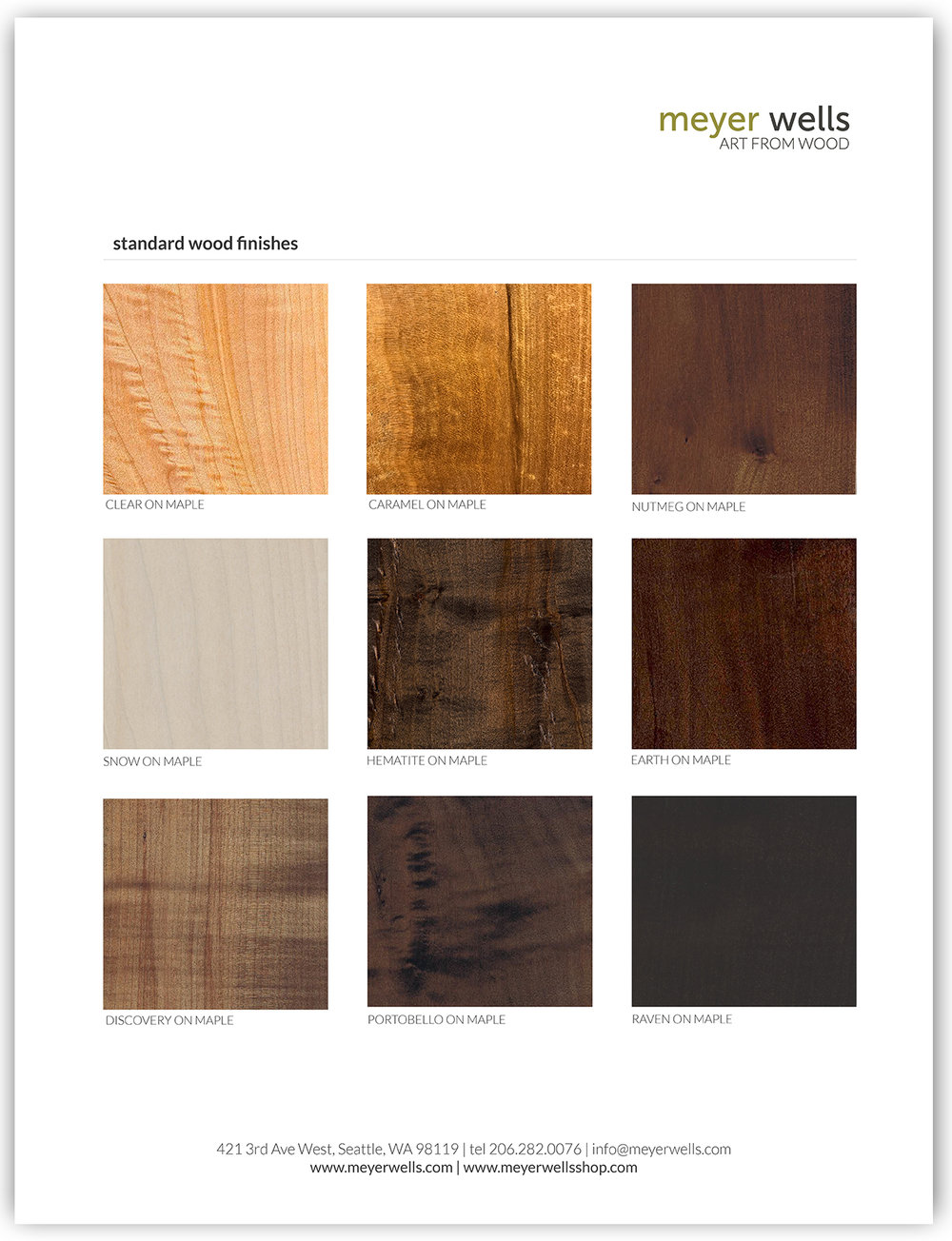 Copy of STANDARD WOOD FINISHES