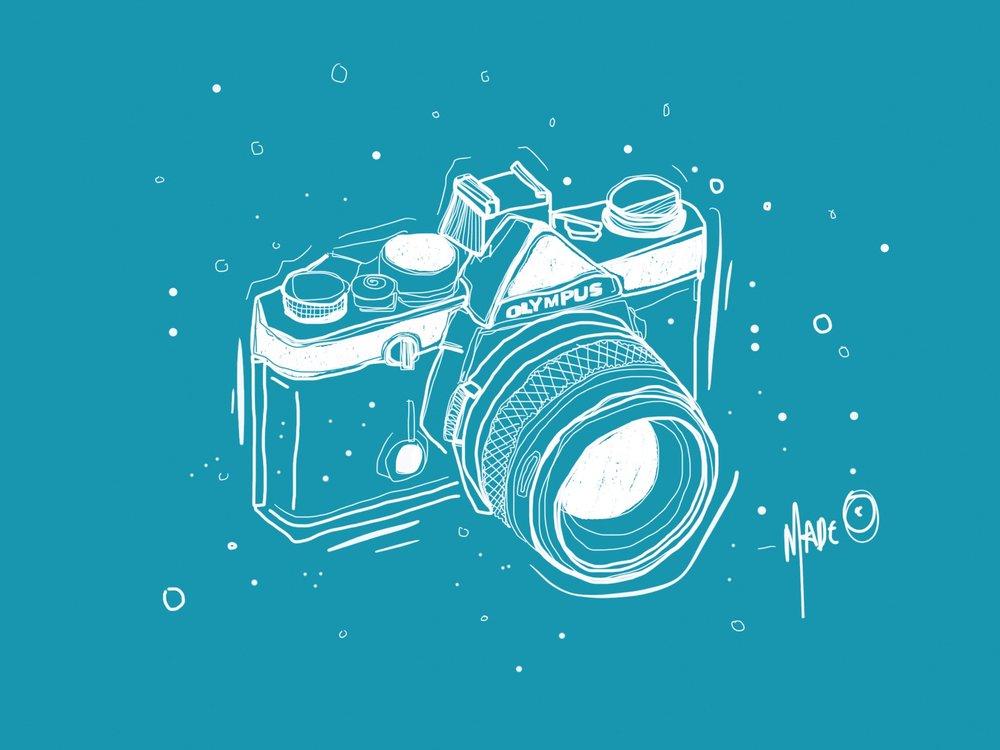 Digital illustration Olympus OM 2N