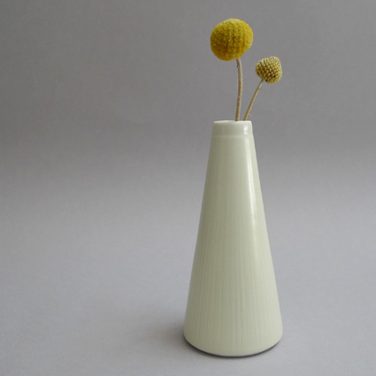 Tall Bud Vase, Lemon.  RRP $65