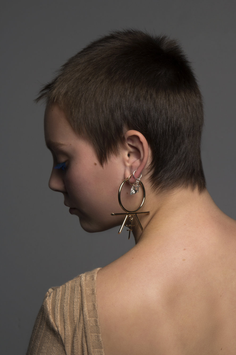 Large Meadowlark Earring , paired with  Underground Sundae Sleepers