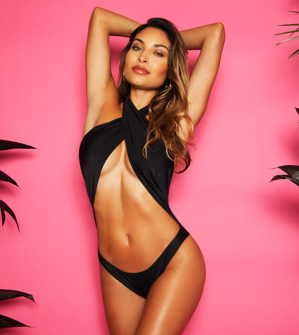 EXOTIC BLACK CROSSOVER ONE PIECE SWIMSUIT MONOKINI $45.99
