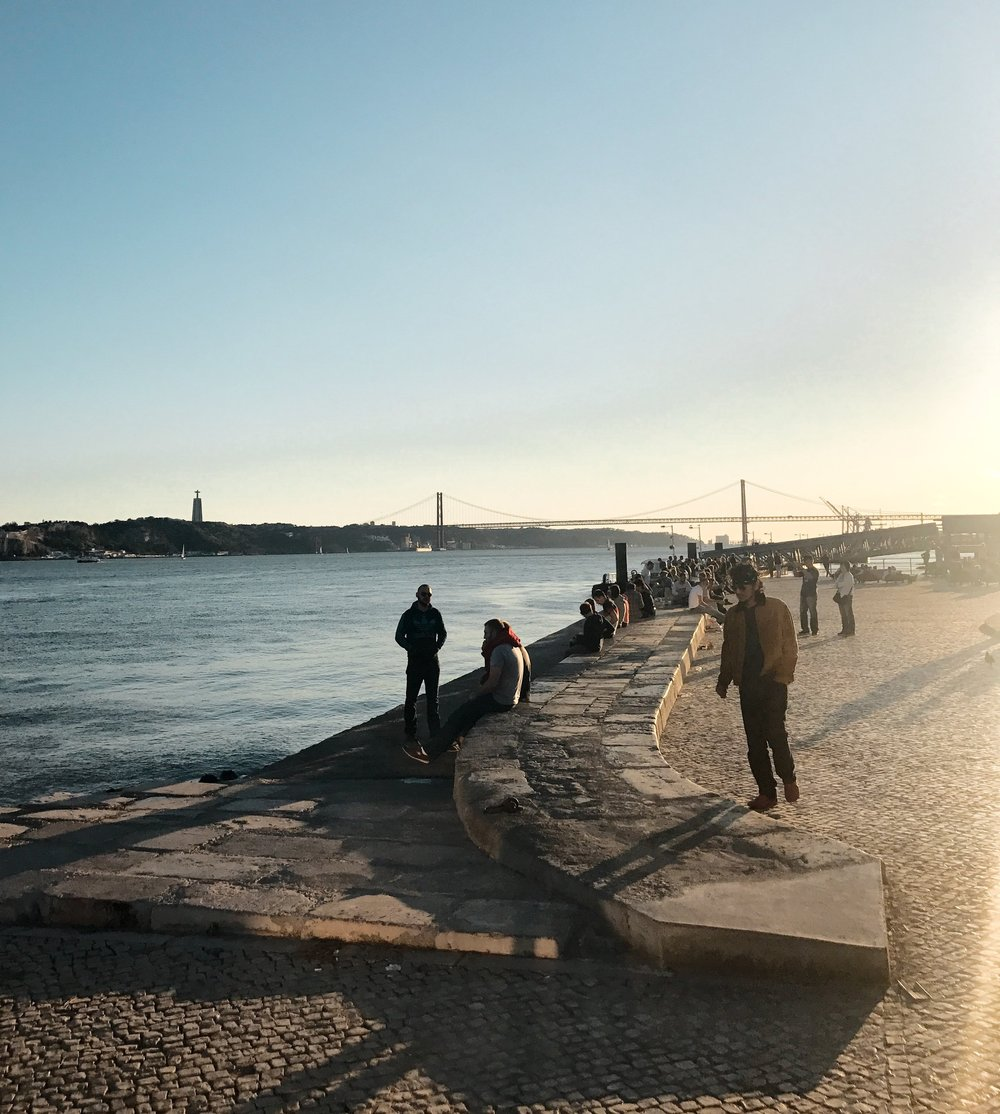 Riverfront in Lisbon