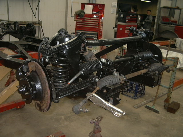 The replacement of the body shell reduced the overall cost of the restoration. The chassis was also in poor condition and was straighten, repaired and overhauled.