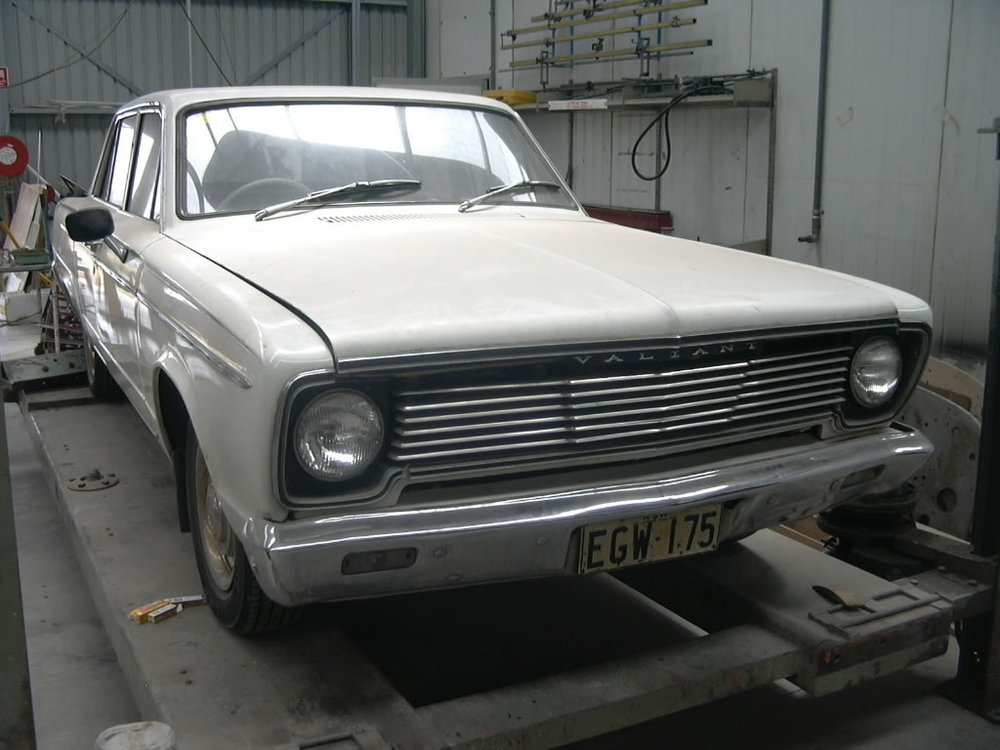 The Valiant was complete and running when it came to the workshop. The customer wanted to give the vehicle a complete restoration from the ground up. The Valiant has been in the same family for many years and has great sentimental value to it current owner.