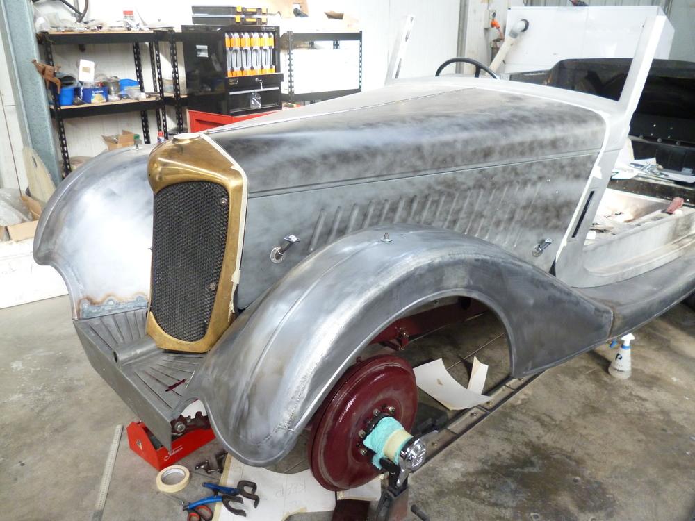 Riley Sedanca front guard fabrication