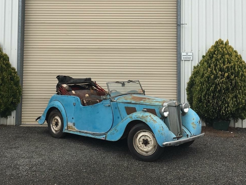 The MG YT has been in storage for many years. It is now in for complete restoration.