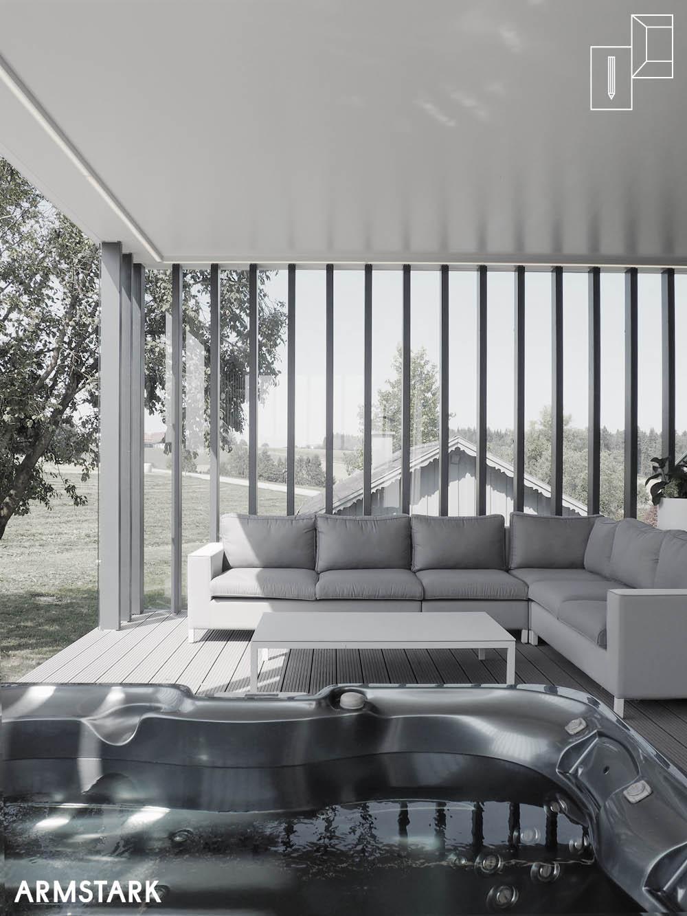 Terrasse mit Outdoor-Sofa