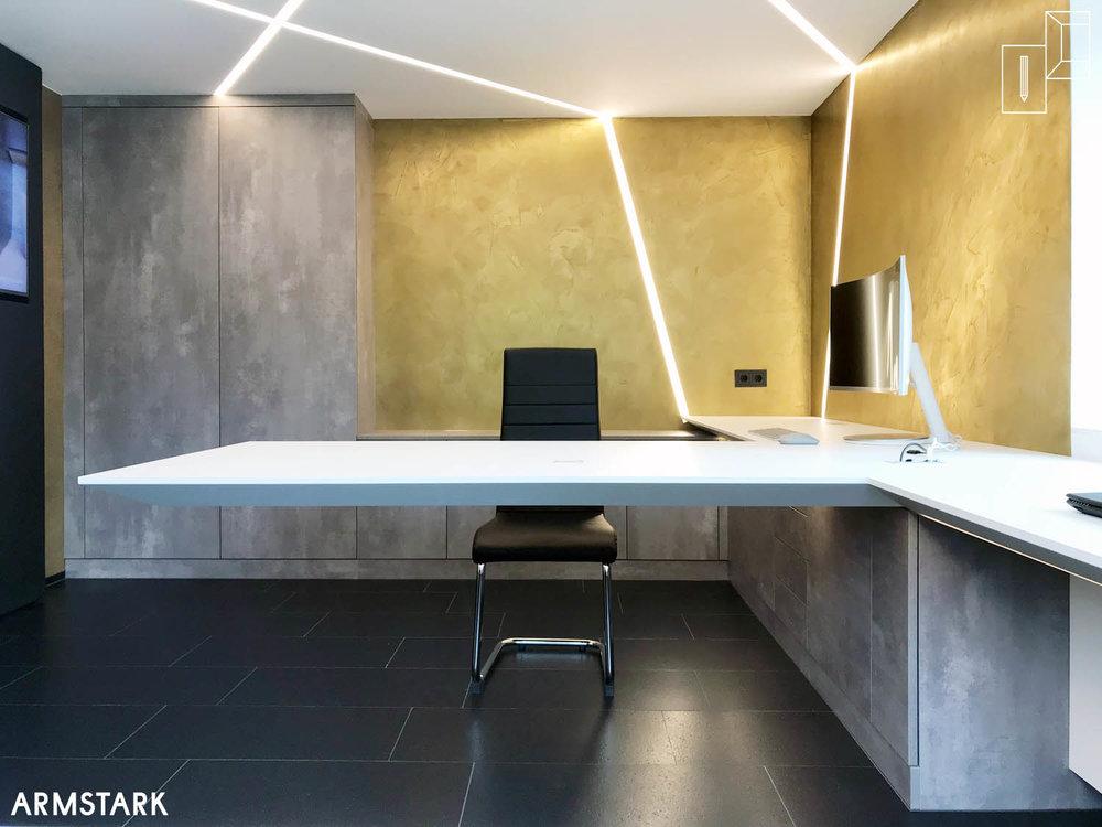 Home-Office mit hochwertigen Materialien