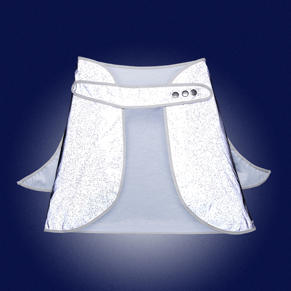 Limited Edition- Glitter Angel Wings Cape for kids- front view - reflecting in the dark