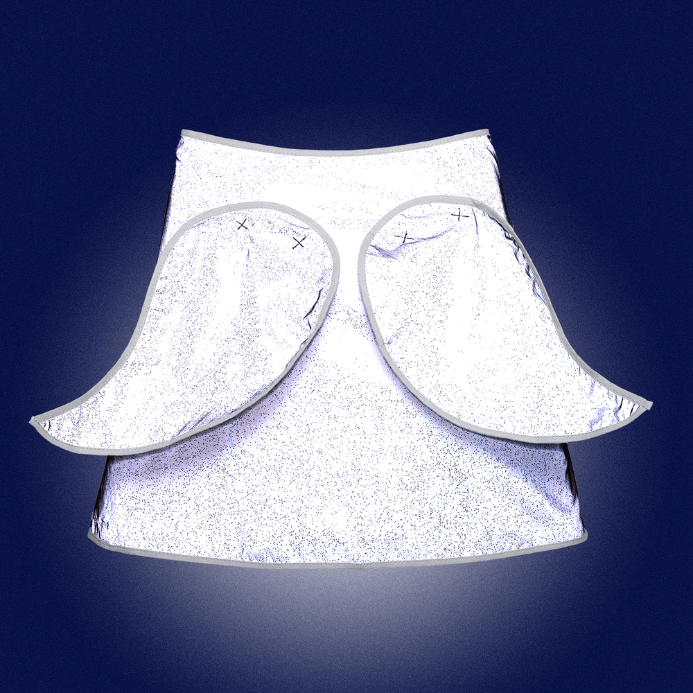 Limited Edition- Glitter Angel Wings Cape for kids- back view - reflecting in the dark