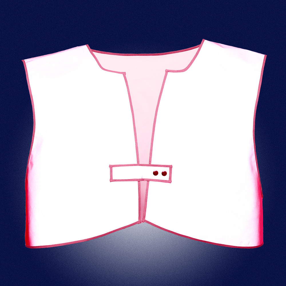 Pink Limited Edition Vest Men- front- reflecting in the dark