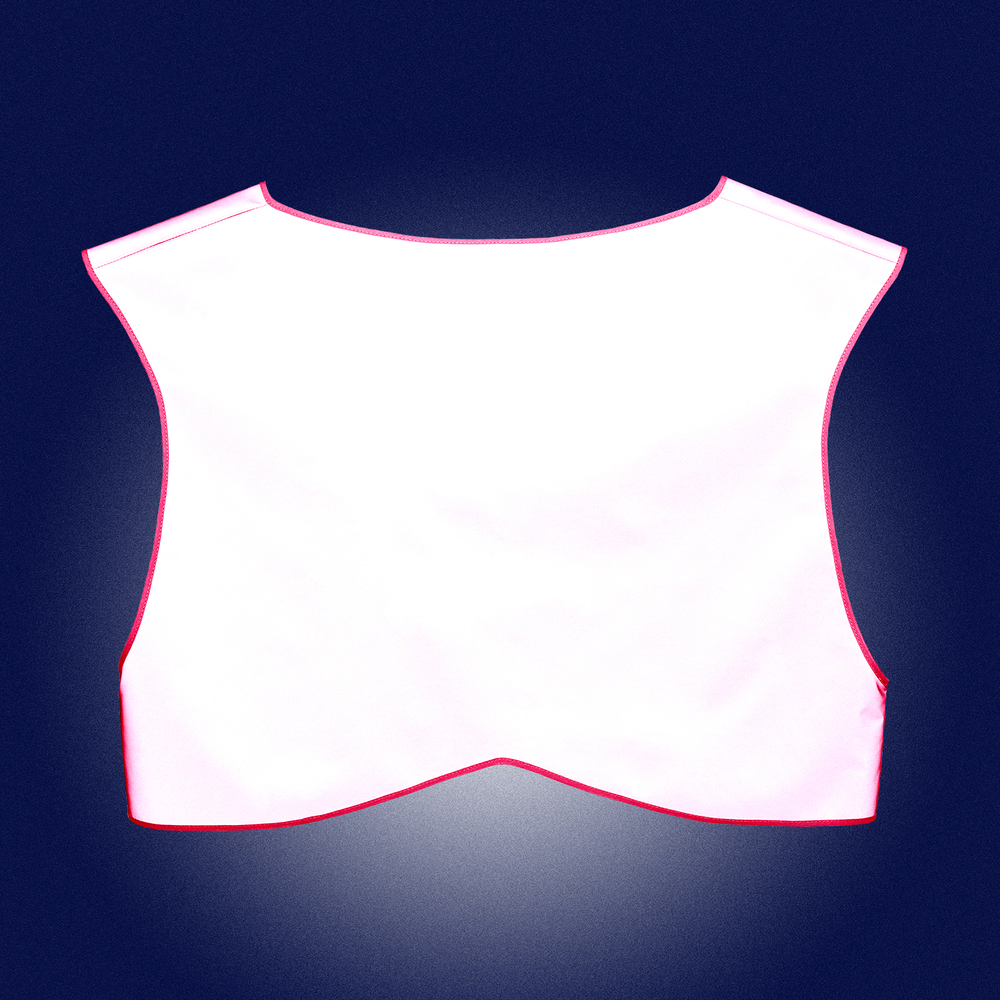Pink Limited Edition Vest Men - back view - reflecting in the dark