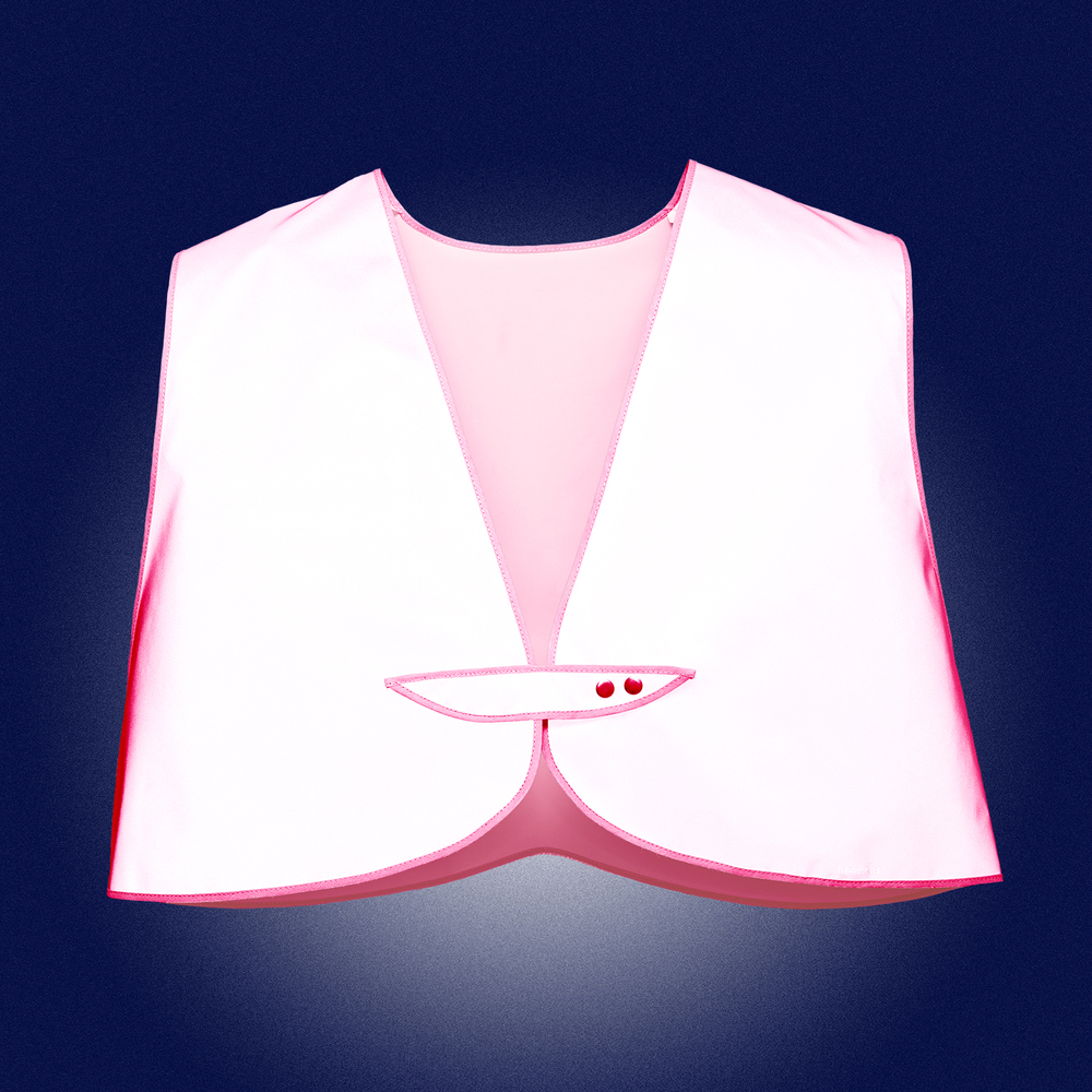 Pink Limited Edition Vest Women - front reflecting in the dark