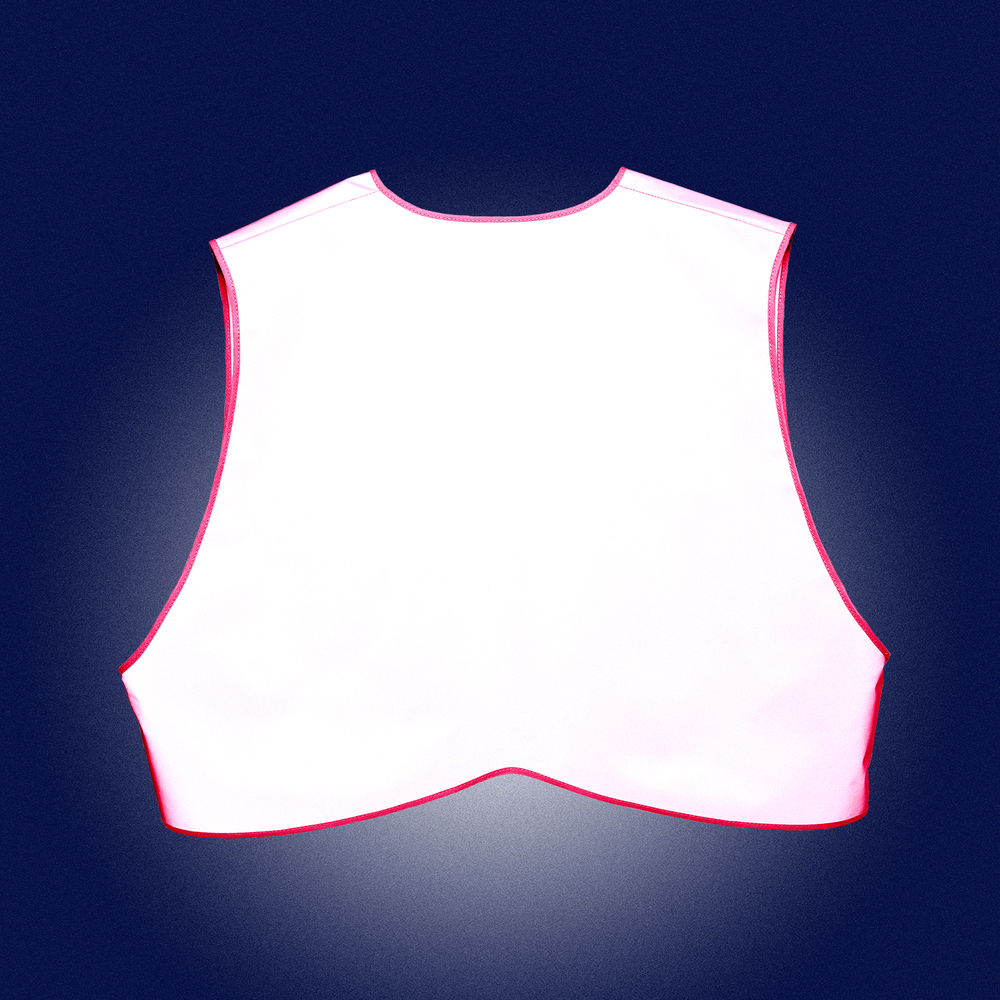 Pink Limited Edition  Vest Women - back - reflecting in the dak