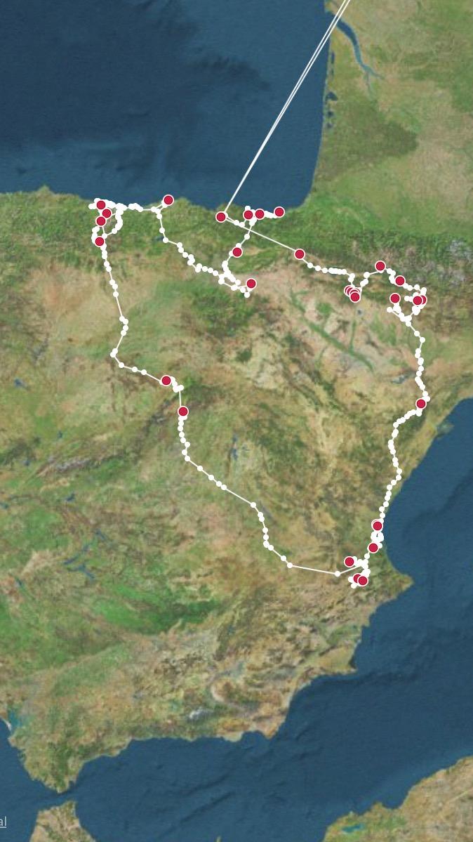 De reis van eind augustus tot eind september: Spanje