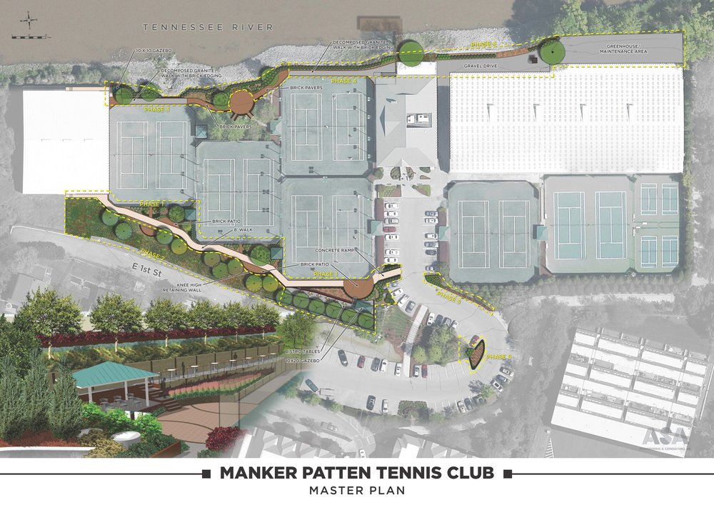 Manker Patten Tennis Club Master Plan - Chattanooga, Tennessee