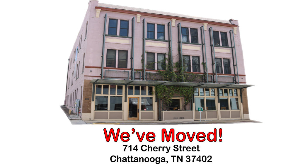 Effective September 5, 2018, we have moved into our new 7,500 SF office at 714 Cherry Street, about 2-blocks north of our old office. If you are a bill collector or process server, we are still in our old office at 109 East MLK Blvd. Keep knocking until someone answers.